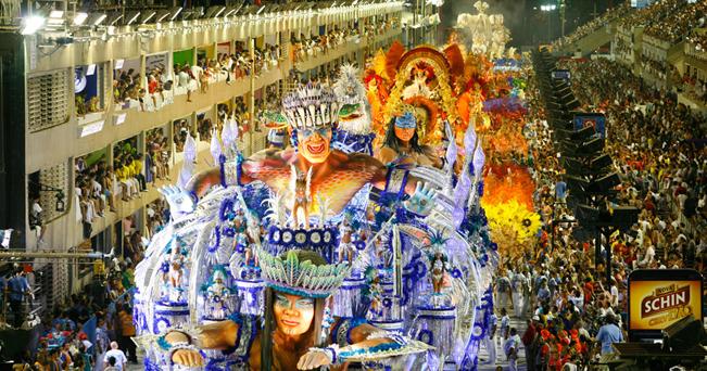 Carnival parade at the Sambodrome, Rio de Janeiro, Brazil.. Image shot 02/2010. Exact date unknown.
