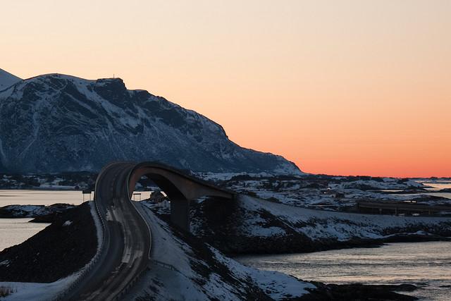 Atlantic Ocean Road invernale